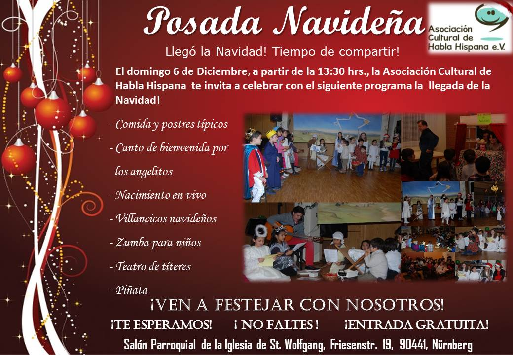 Posada Navideña, fiesta familiar