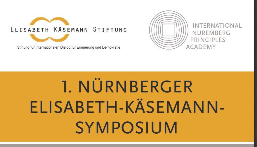 1. Nürnberger Elisabeth-Käsemann-Symposium