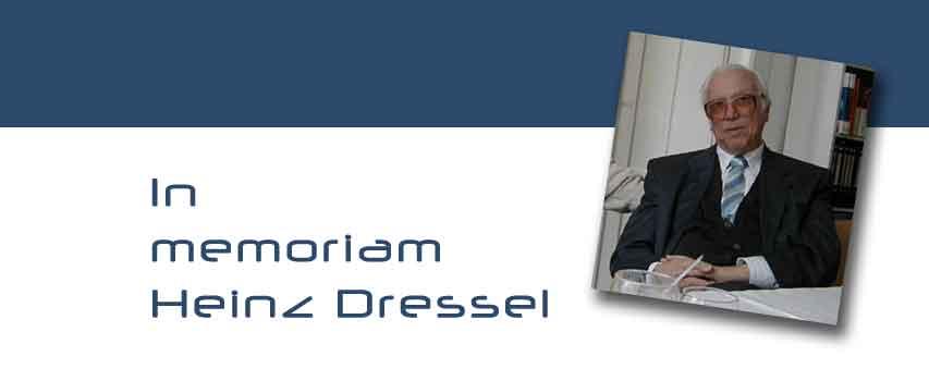 In memoriam Heinz Dressel