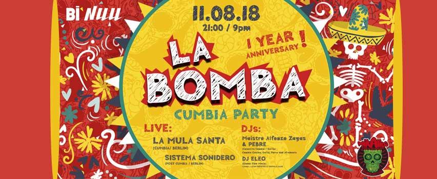 La Bomba Cumbia Party mit La Mula Santa, Sistema Sonidero & DJs