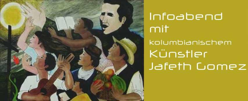 Infoabend mit kolumbianischem Künstler Jafeth Gomez