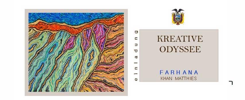 """Vernissage """"Kreative Odyssee"""" von Farhana Khan Matthies"""