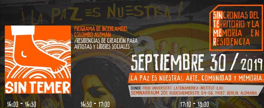 Conversatorio: Arte y Memoria para la construcción de paz en Colombia