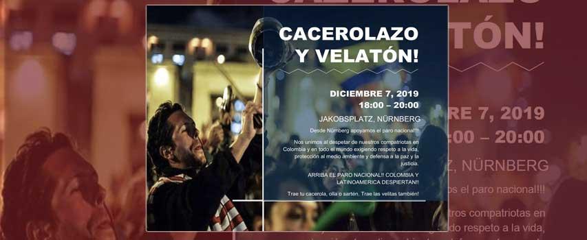 Cacerolazo / Velatón por Colombia en Núremberg!