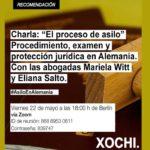 """Charla: """"El proceso de asilo: procedimiento, examen y protección jurídica en Alemania"""""""