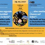 """El Nodo Alemania los invita al Conversatorio «…""""Una segunda oportunidad sobre la tierra"""": El derecho de asilo en Alemania para colombianas/os»."""