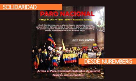 Solidaridad en Nuremberg con Colombia – PAro Nacional